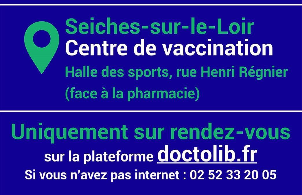 Info centre de vaccination de Seiches