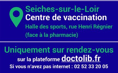 Info centre de vaccination de Seiches